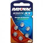 Knapbatteri Rayovac 312 Acoustic 1,4V, 180m/Ah