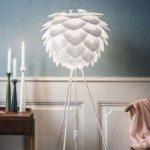 Trebenet standerlampe Silvia medium, hvid