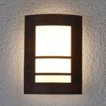 Rustbrun udendørslampe Katalea