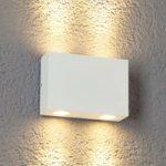 Henor – LED-udendørsvæglampe, 4 lysk., hvid