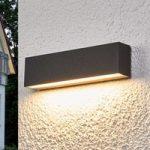 Elvira – grafitgrå LED udendørs væglampe med IP65
