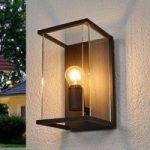 Annalea udendørs væglampe med glasskærm og IP54