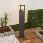 Pullertlampe Klemens med grafitgrå overflade