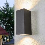 Udendørs væglampe Xava m. 2 lys, grafitgrå