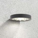 Udendørs LED-væglampe Linja m. solceller, mørkegrå