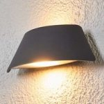 Trapezformet LED-udendørsvæglampe Glen med IP65