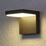 Moderne udendørs LED væglampe Rachel i aluminium