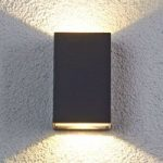 Udendørs LED væglampe Jale, i aluminium
