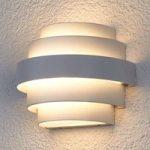 Hvid LED væglampe Enisa til udendørs brug