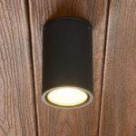 Mørkegrå LED-loftslampe Hana til udendørs