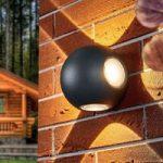 Kuglerund LED udendørs væglampe Elsie