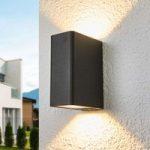 Firkantet aluminiums væglampe Alvarie udendørs LED