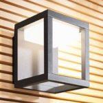 Udendørs LED-væglampe Gero uden lameller