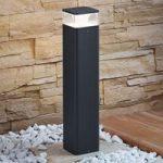 Udendørs LED-sokkellampe Lidia af aluminium 50 cm