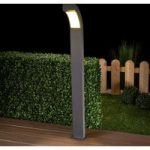 Grafitgrå LED gadelampe Lennik