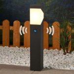 LED Sokkellampe Kiran, med bevægelsessensor
