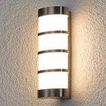 LED-udendørslampen Leroy i rustfrit stål