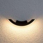 Half – grafitfarvet LED-udendørsvæglampe