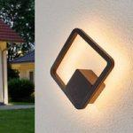 Interessant formet LED udendørs væglampe Donato