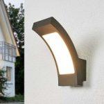 Grafitgrå LED udendørs væglampe Juvia, IP54