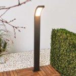 Juvia – LED gadelampe i grafitgrå aluminium