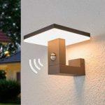 Udendørs væglampe Olesia med LED, bevægelsessensor