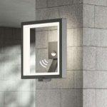 Udendørs LED-væglampe Square, grafitgrå, sensor