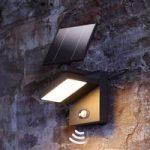 Udendørs solcelle-LED-væglampe Silvan med sensor