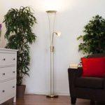 Yohann – flot LED-loftwasher, messing mat