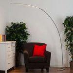 Sølvfarvet LED-gulvlampe Danua