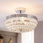 Skinnende krystal-loftslampe Mondrian