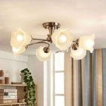 Elegant loftslampe Aurelia med floralt udseende