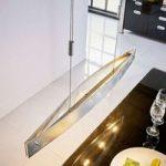 Lio spisebord LED-hængelampe med sølvfolie