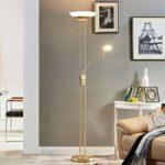 Yveta dæmpbar LED uplight-lampe med læselampe