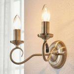 Marnia elegant væglampe i antik messing