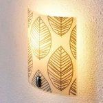 Savas – glas-væglampe med bladdekoration