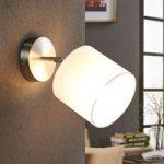 Justerbar LED-stofvæglamper Mairi i hvid