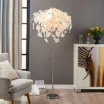 Maple – gulvlampe med bladdekorering