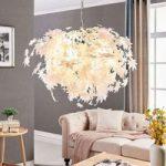 Stor hængelampe Maple med bladdekorering