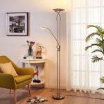 Nikkelfarvet LED uplight lampe Selina, læselys
