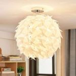 Corin – hvid loftlampe i trendy look