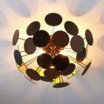 Sort-gylden loftslampe Kinan