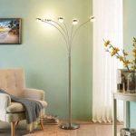 LED standerlampe Catriona, lysdæmper, 5 lyskilder