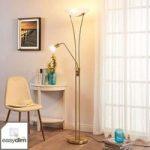 LED uplight lampe Felicia med læsearm – dæmpbar
