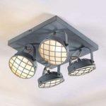 LED loftlampe Tamin med 4 lyskilder, røggrå, G9