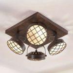 LED køkken loftlampe Tamin, rustbrun