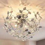 Bjarne – loftlampe i bladoptik med krystaller
