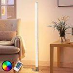 Aflang LED RGB standerlampe Hadis, dæmpbar
