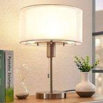 Stof LED-bordlampe Amon, dæmpbar i 3 trin