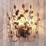 Smuk væglampe Amendera, sort-guld